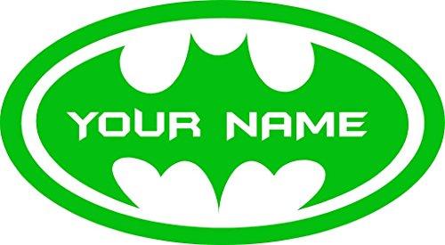 Chic Walls Removable Personalized Batman Logo Custom Name Text Wall Art Decor Decal Vinyl Sticker Mural Superhero Kids Room Nursery 22