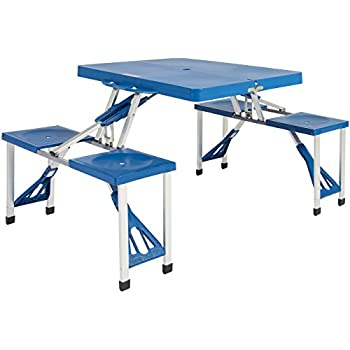 Best Choice Products Kids Outdoor Portable Plastic Folding Picnic Table  Camping With 4 Seats