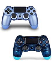 Game Controller for PS4 with 3 Cable,Wireless Controller for Playstation 4 with Dual Vibration Game Joystick (2 Blue)