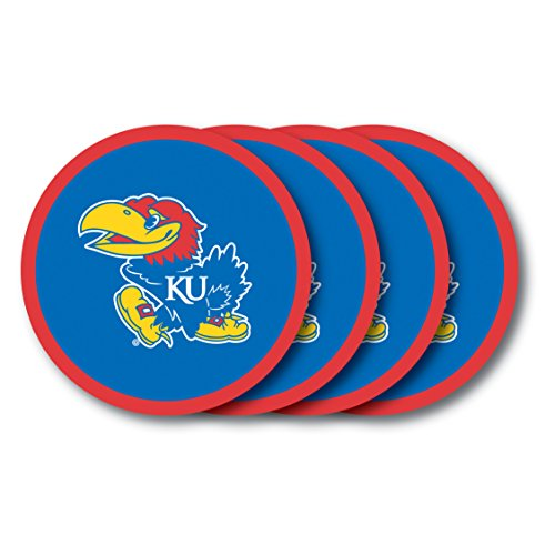 NCAA Kansas Jayhawks Vinyl Coaster Set (Pack of 4)