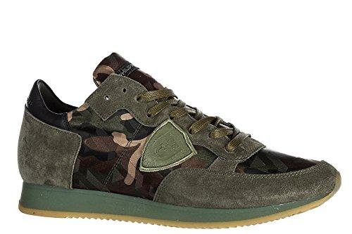 Philippe Model Herenschoenen Mannen Suède Sneakers Schoenen Tropez Groen
