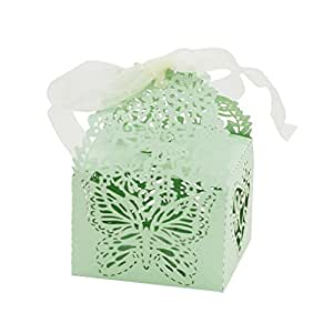 Wedding Gift Boxes Amazon : Amazon.com: 50Pcs Butterfly Favor Ribbon Gift Candy Boxes Wedding ...