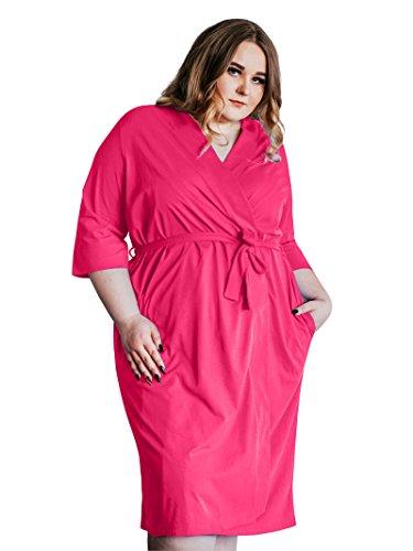 SIORO Women's Cotton Robe Plus Size Lightweight Kimono Robe Gowns Knit Bathrobe Soft Sleepwear - Cotton Jersey Robe