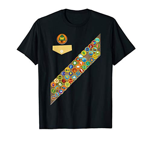 Disney Pixar Up Russell Badges Chest Patch Graphic T-Shirt]()