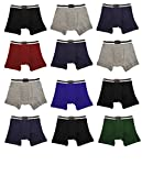 Andrew Scott Basics Boys 12 Pack Boys Toddlers Cotton Knit Boxer Briefs (2T/3T-TODDLER, 12 PK-Black/GreyNavy)