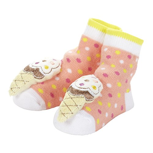 (C.R. Gibson Rattle Toe Single Pair Socks, Ice Cream)