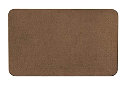 Skid-resistant Carpet Indoor Area Rug Floor Mat - Toffee Brown - Many Other Sizes to Choose From
