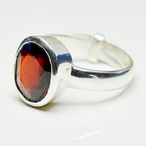 b10190ac3e1f 55 ct genuino anillo de plata hessonite para hombre 4