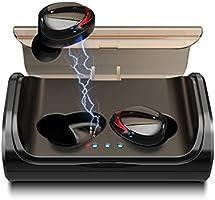 Arbily Auriculares Bluetooth, Auriculares Inalámbricos Bluetooth 5.0 Estéreo Hi-Fi Sonido IPX6 Resistentes al Agua, 90 Horas Autonomía 3000mAH Estuche de Carga para la Mayoría de Móviles