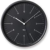 掛け時計 Lemnos タカタレムノス リキ スチール クロック RIKI STEEL CLOCK WR17-10 壁掛け時計 ウォールクロック 渡辺 力 送料無料 (ブラック)