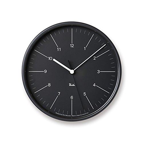 掛け時計 Lemnos タカタレムノス リキ スチール クロック RIKI STEEL CLOCK WR17-10 壁掛け時計 ウォールクロック 渡辺 力 送料無料 (ブラック) B075W8Q1FNブラック