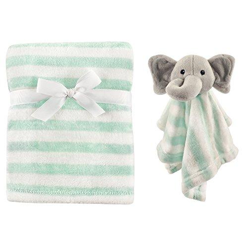 Hudson Baby Plush and Security Blanket Set, Mint Elephant, One Size