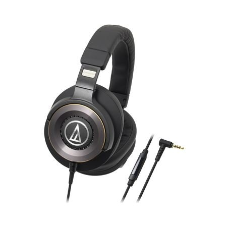 Audio Technica ATH-WS1100iS Solid Bass Headphones With In-line Mic Audio Technica Lightweight Headphone