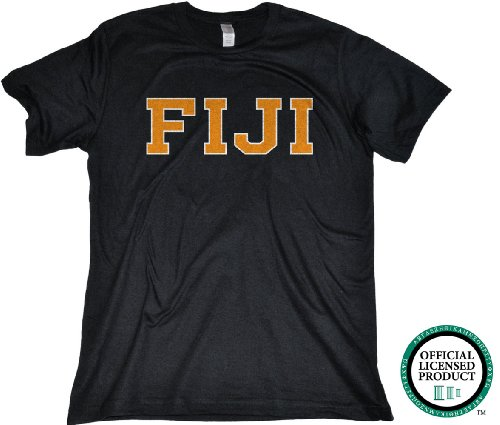 Ann Arbor T-shirt Co Men's PHI GAMMA DELTA-Fitted, FIJI Fraternity T-Shirt
