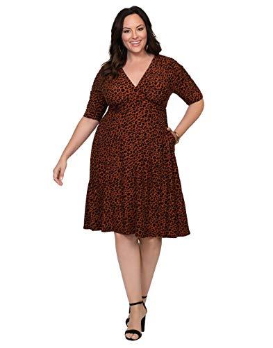 (Kiyonna Women's Plus Size Gabriella Dress 0X CATpy Dot Motif)