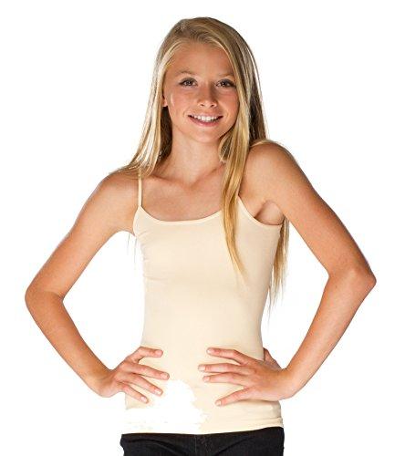Malibu Sugar Girls (10-14) Full Cami One Size Nude