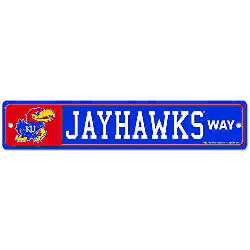 WinCraft Kansas Jayhawks NCAA Street Sign - Team Color,