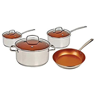 NuWave Aluminum Hard-anodized 7 Piece Cookware Set, Silver