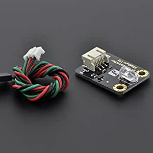 Angelelec DIY Open Sources Infrared Sensor, Digital Infrared Signal Transmission Module (Arduino Compatible), an Arduino Compatible 38KHZ ir Receiver Sensor, Enables Infrared Wireless Communication.
