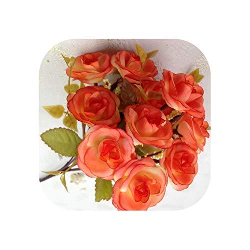 (European Style Flower Gilded Holder Decor Ceramic Flower Vase Decorative Plated Vases Exquisite Wedding Decoration Golden Vase,C )