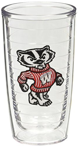 Tervis Wisconsin University Badger Emblem Tumbler (Set of 2), 16 oz, Clear