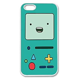 Apple iPhone 5 Beemo BMO Adventure Time SLIM WHITE Sides Case Cover Skin Mobile Phone Accessory Faceplate Retro Vintage Comes in Case Cartel Packaging