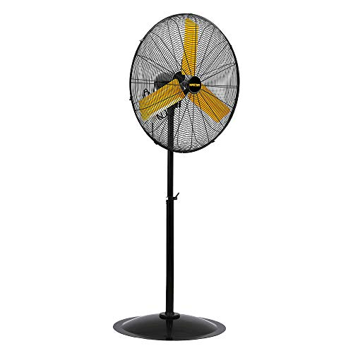 Master PROFESSIONAL MAC-24POSC-EP, Heavy Duty, High Velocity 24 pedestal fan, oscillating, Black