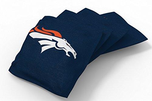 PROLINE 6x6 NFL Denver Broncos Cornhole Bean Bags - Solid Design (A) ()