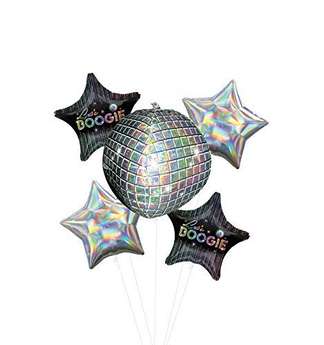 Let's Boogie 70's Disco Dance Party Supplies Balloon Bouquet Decorations -