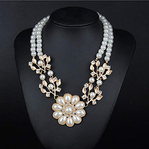 - Fashion Women Rhinestone Pearl Pendant Choker Statement Bid Chunky Necklace Jewelry Crafting Key Chain Bracelet Pendants Accessories Best