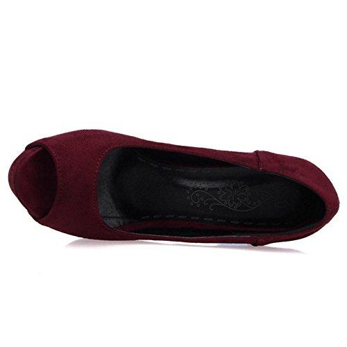 Escarpins Toe Red Peep Femmes VulusValas Fashion t1wxI7X1q