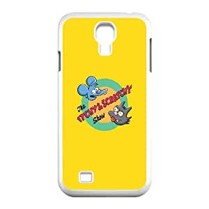 Samsung Galaxy S4 9500 Cell Phone Case White Itchy And Scratchy JNR2058443