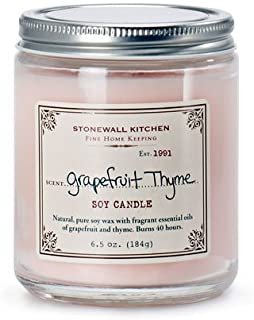 product image for Stonewall Kitchen Grapefruit Thyme Soy Candle, 6.5 Ounce Jar