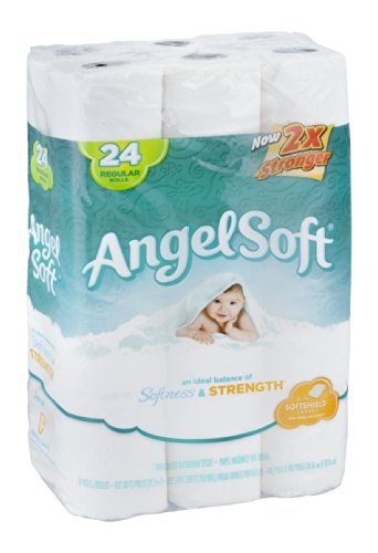 Angel Soft Bathroom Tissue 2-Ply Unscented 24 ROL