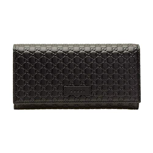 GUCCI wallet fold black micro guccissima leather 449396BMJ1G-1000 ()