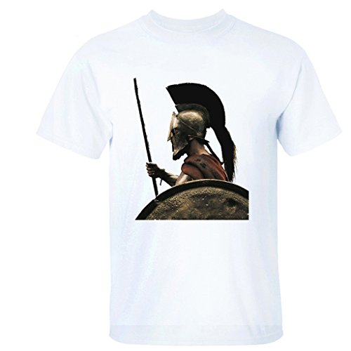 ALLIEED Men's 300 Hero Sparta Custom Brave T-shirts - L White]()