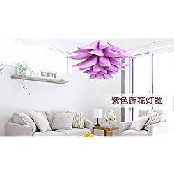 Sorive® DIY Lotus Chandelier IQ PP Pendant Lampshade Ceiling Room Decoration (Purple)
