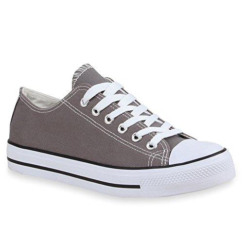 Sneaker Unisex Grau Flandell Low Herren Stiefelparadies Damen Weiss Übergrößen dtqqA