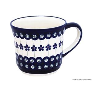 Boleslawiec Pottery Mug, 0.50 L, Original Bunzlauer Keramik, Decor 166a