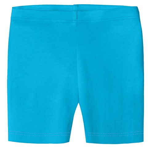 City Threads Little Girls Underwear Bike Shorts in All Cotton Perfect for SPD and Sensitive Skin Sports Dance School Uniform, Turquoise 6
