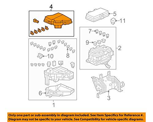 Genuine Honda 38256-SZA-A11 Relay Box (Upper) Cover: