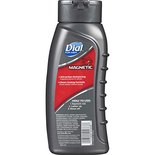 Dial for Men Body Wash, Magnetic Pheromone Infused Attraction Enhancing Formula, 21 Fluid Ounces Pack of 6