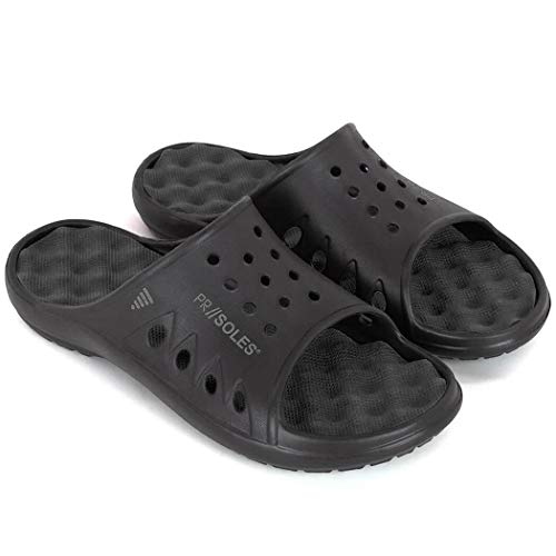 ndals | Sports Glides for Men and Women | Great for Athletes | Black LG | (W) 10 - 11 | (M) 9 - 10 ()