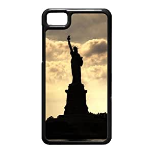 Generic Cell Phone Case Cover For Black Berry Z10 case Diy Personalized custom US American Flag Stripes Stars USA Statue of Liberty New York City Mobile Phone Cases Protective Skin Pattern Plastic Hard Shell Free Shipping