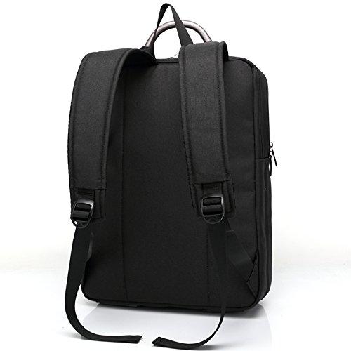 b6607New Frauen Rucksack weiblich Rucksäcke hoch Qualität Wasserdicht Nylon Damen Tasche Frauen S Travel Rucksack Mochila Anzug für 14,6/39,6cm Laptop grau 15.6INCH schwarz