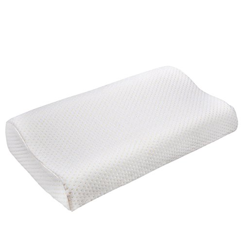 Denshine® 30x50cm Sleep Slow Rebound Memory Foam Pillow Cervical Health Care 1pc (White)