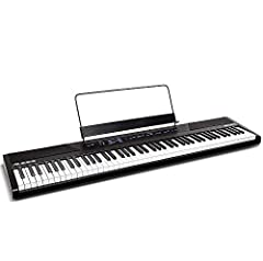 Premium Feel and Sound The Alesis Recital is a full-featured digital piano with 88 full-sized semi-weighted keys with adjustable touch response. The Recital features 5 realistic built-in voices: Acoustic Piano, Electric Piano, Organ, Synth, a...