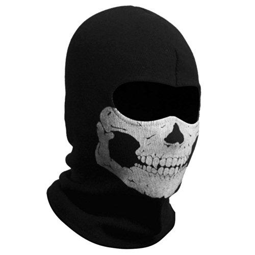 Tinksky Ghost Skull Balaclavas Skiing Cosplay Mask (White - Ghost Mask