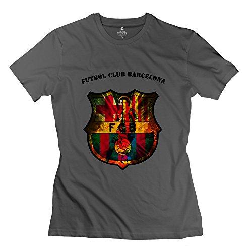 C-DIY Women's T Shirt Trendy Futbol Club Barcelona Tee L DeepHeather