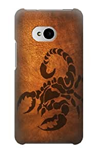 S0683 Scorpion Tattoo Case Cover for HTC ONE M7